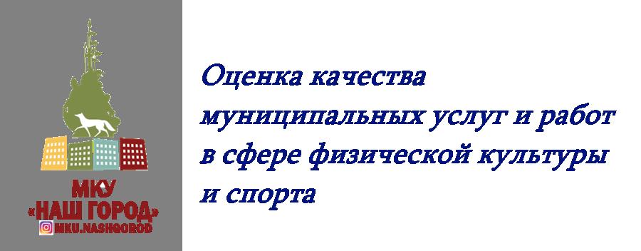 Оценка качества муниципальных услуг и работ в сфере физической культуры и спорта
