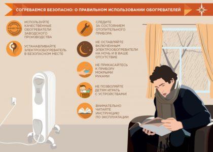 Меры предосторожности при использовании отопительных приборов